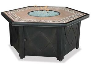 Uniflame Gad1380Sp Lp Gas Outdoor Firebowl with Decorative Tile Mantel Condition: Used