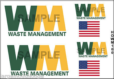 HO SCALE CUSTOM TRUCK CONTAINER WASTE MANAGEMENT DECAL SET HOWM100