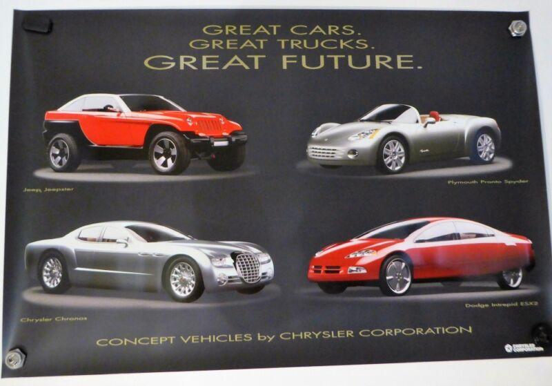 CHRYSLER CONCEPT CARS POSTER INTREPID, ESX2, PRONTO SPYDER