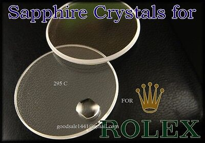 100% Sapphire Crystal  Watch Crystal  For (fit) Rolex Submariner 295-C.See Chart