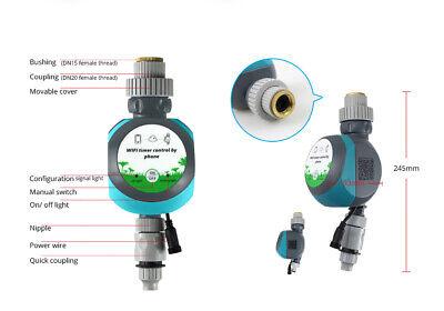 Tuya Wifi 2.4GHz Valve Controller Irrigation Timer Fit Pot Drip Irrigation Lawn