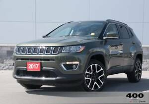 2017 Jeep Compass Limited **LEATHER**NAVIGATION**SUNROOF**RARECO