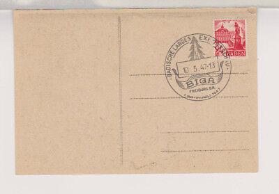 Franz.Zone/Baden, Mi. 8, Freiburg, SOK/SST BIGA, 10.5.47