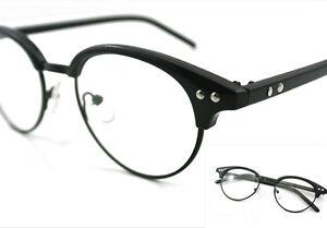 Small Eyeglass Frame Man Women Clear Glasses Bright Black ...