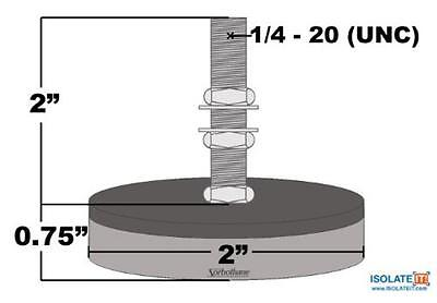 Sorbothane Isolate It Anti-vibration Leveling Mount - 2 Pack - Made In Usa
