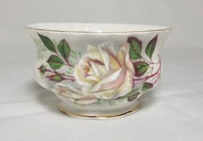 Vintage Royal Albert White Rose Open Sugar Bowl Gold Gilt 1960's - Replacement ()
