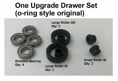 Ball bearing upgrade steelcase tanker desk drawer roller o-ring style