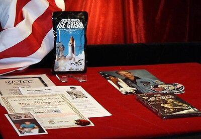 NASA DON WILLIAMS Signed Space Shuttle ICE CREAM, DVD, UACC, COA, Photo, Patch