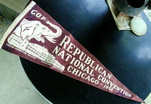 1952 Republican National Convention Chicago G.O.P. Ampitheatre Pennant