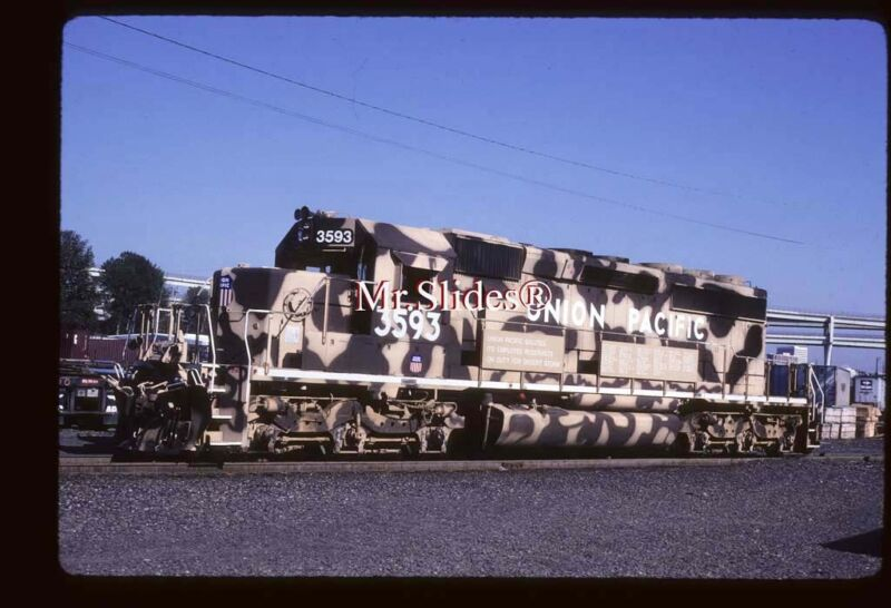 Original Slide UP Union Pacific Desert StormSD40-2 3593