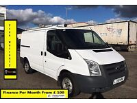 Ford Transit Van 2.2 300-1 Owner Ex BT- FSH 10 Stamps -1YR MOT-88K Miles -Paking Sensors -WARRANTY