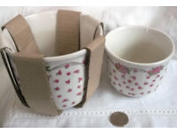 ceramic flower design plant pots