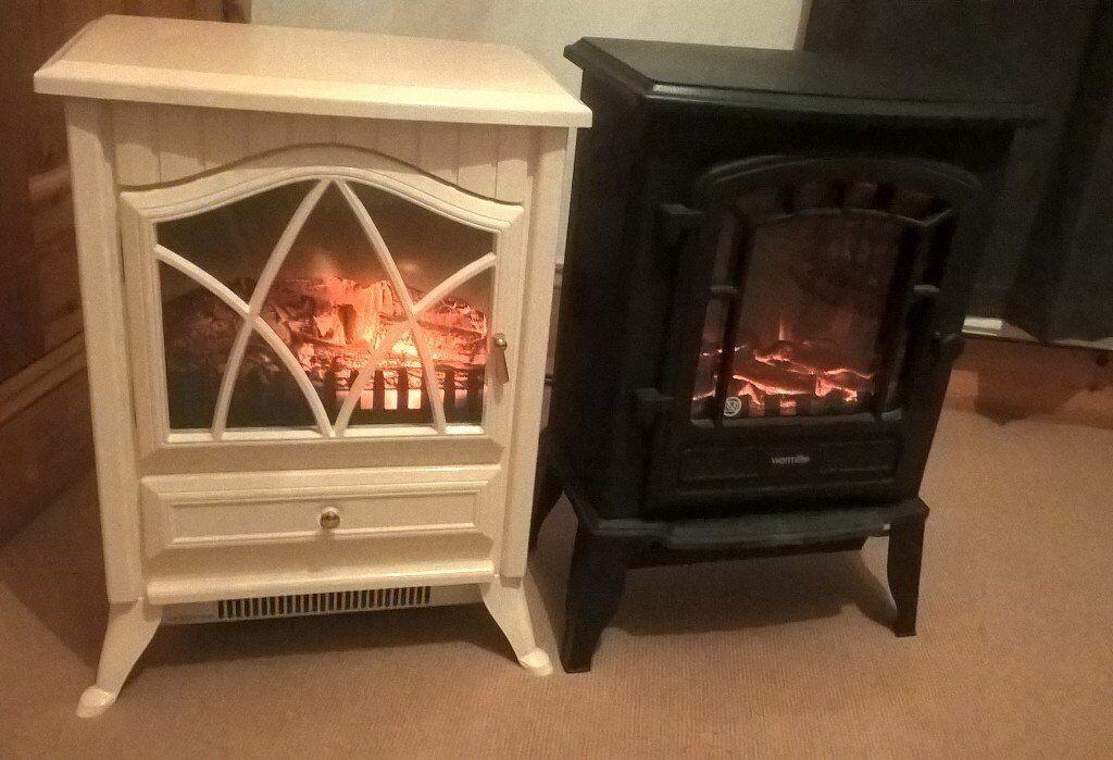 2 1800w Electric Log Burner Effect Fires