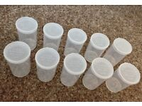 Pop Tub Squeeze Tubs - Clear Medical Storage
