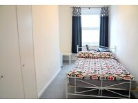 double iron bed and Silentnight mattress