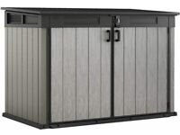 NEW Keter Grande Garden Shed Lockable Wheelie Bin Storage Box XXL SIZE ~ 6ft 3 x 3ft 7