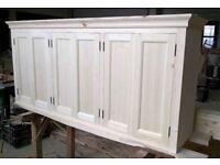 Solid pine kitchen wall cupboard 6 doors