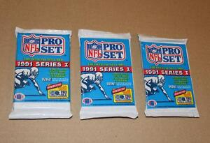 1991 NFL PRO SET SERIES 1 FOOTBALL Lot of 3 packs Strathcona County Edmonton Area image 1