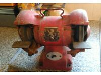 Wolf Bench Grinder, in good working order with spare stones.