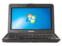 "Samsung 10.1"" Netbook 1.60GHz 2GB 160G hdd Notebook WebCam WiFi Windows 7"