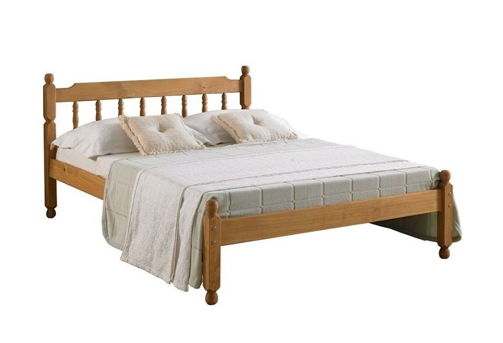 6e29d5a93365 BRAND NEW SOLID PINE WOODEN BED FRAME IN SMALL SINGLE, DOUBLE AND KINGSIZE  - LOW FOOTEND HARD WOOD