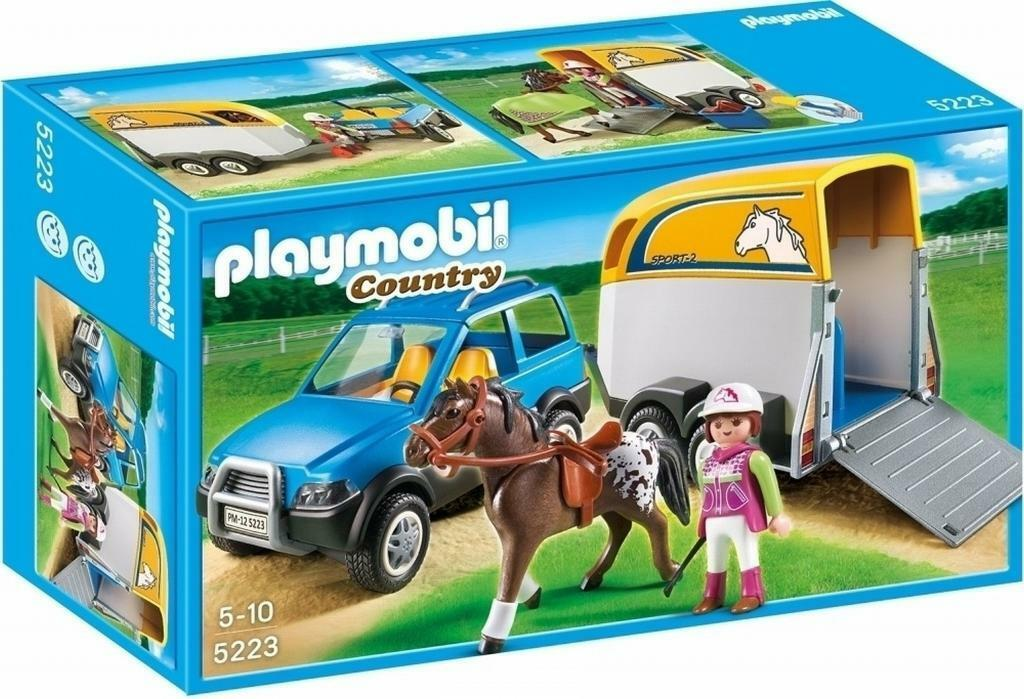 Playmobil Country 5223 Horse SUV and Horse Trailer