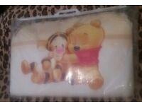 New!! Disney Winnie &; Tigger Bedding Set for Cot or Cotbed Beige 4pcs