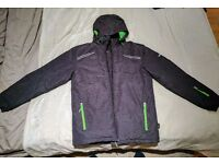 Man Ski Jacket - Size-M - Color charcoal/lime *LIKE NEW*