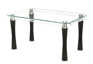 Gorgeous Bent Glass Dining Table - Final Clearance! Just $399 Delivered To Your Door!