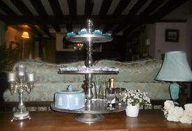 Cake stand for hire. Vintage silver 3 tier cake stand