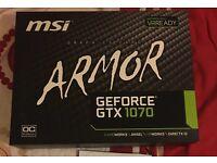 MSI GTX 1070 Armour OC Nvidia Brand new