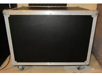 Custom 2 Door Wheeled Guitar Amplifier Flight Case with Built In 4U 19in; Rack
