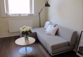 As NEW BEIGE MUJI 3 Seater T2 Sofa Bed.NEVER Slept on Double Sofabed. CHIC. COST £750. I CAN DELIVER