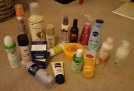Bundle of Assorted Ladies Toiletries, 18 Full Size Items – Brand New and Unopened