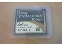 Lexar Professional 1066x 64GB Compact Flash UDMA7