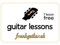 professional GUITAR TEACHER LESSON - just 3min from Canning Town station