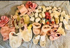 Girls shoes and accessories bundle Sidcup 0-2 years