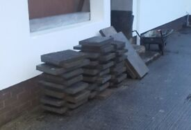 Paving flag stones slate for sale all different sizes 78 all together