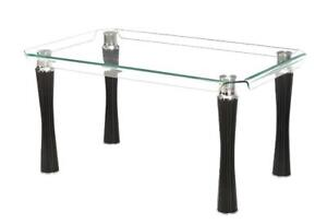 Gorgeous Bent Glass Dining Table - Two imperfect units available for cash and carry at reduced price.