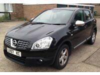 Nissan Qashqai 1.5 dCi Acenta 2WD 5dr Manual Diesel Pana-Roof Black-Full service history: