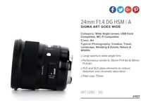 WANTED Sigma 24mm 1.4 for Canon