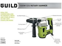 Guild Corded SDS Rotary Hammer Drill - 1000W (New)