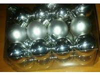 Silver Set Of Small Baubles