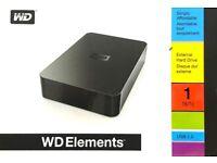 WD Elements External Hard Drive 1TB