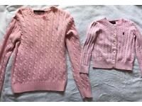 Adult and child Ralph Lauren jumpers