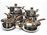 6PC PAN SET STAINLESS STEEL