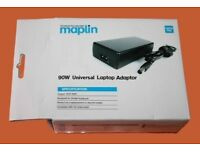 MAPLIN Universal Laptop Charger Adaptor, Auto Voltage Power Supply, 65W-90W. Brand New