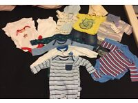 Newborn bundle of boys clothes