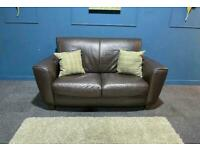 Natuzzi editions brown leather 2 seater sofa