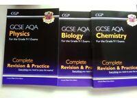 AQA GCSE 9-1 Textbooks For Sale - CGP, All Sciences, OCR Comp Sci, Geography, Edexcel Maths